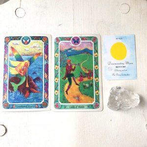 hosi7ムーンスターオラクルカード 種まき月 聖母の月のカードとインナーチャイルドカード