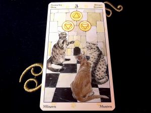 タロットカード:ペンタクルの3