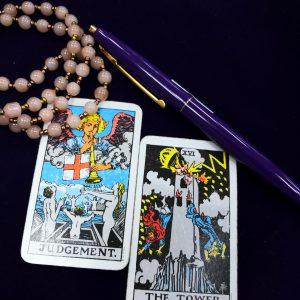 タロットカード:審判、塔