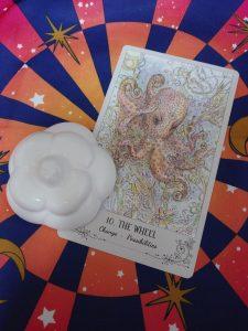 タロットカード:THE WHEEL(運命の輪) 正位置