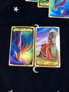タロットカード:隠者の逆位置、ワンドキング