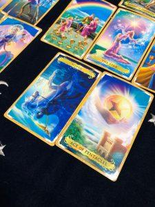 タロットカード:死神の逆位置、金貨の1