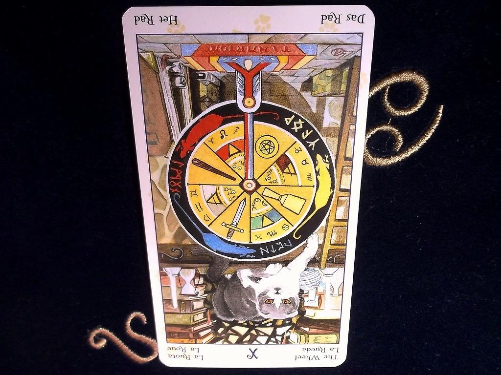 タロットカード:運命の輪の逆位置