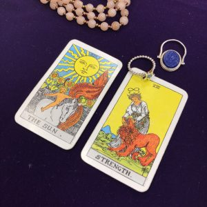 タロットカード:太陽、STRENGTH 正位置