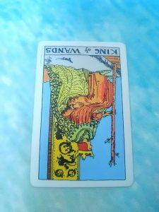タロットカード:ワンドキング逆位置
