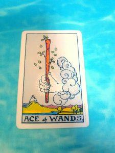 タロットカード:ワンドエース
