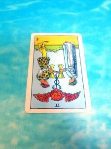 タロットカード:カップ2逆位置