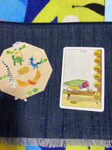タロットカード:ペンタクル8