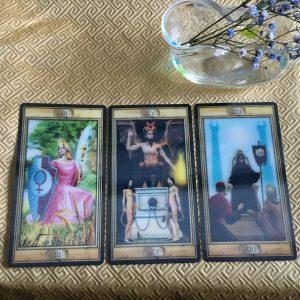 タロットカード:女帝、悪魔、死神