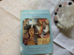 女神カード:現実(MAAT)