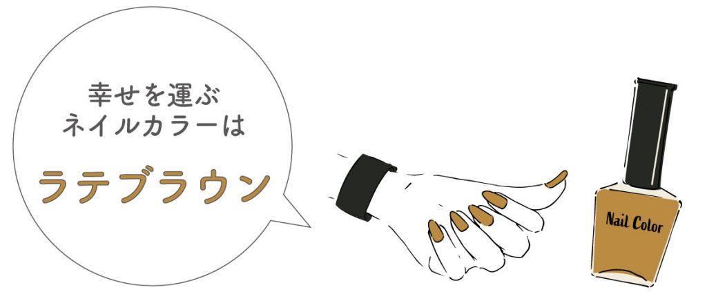 乙女座の幸せを運ぶ今週のネイルカラー:ラテブラウン