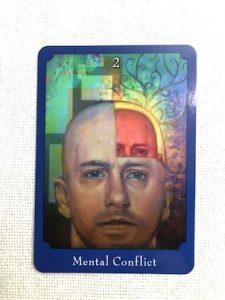 サイキックタロットオラクルカード:Mental Conflict 心の葛藤