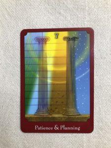 オラクルカード:Patience & Planning 辛抱強さと計画