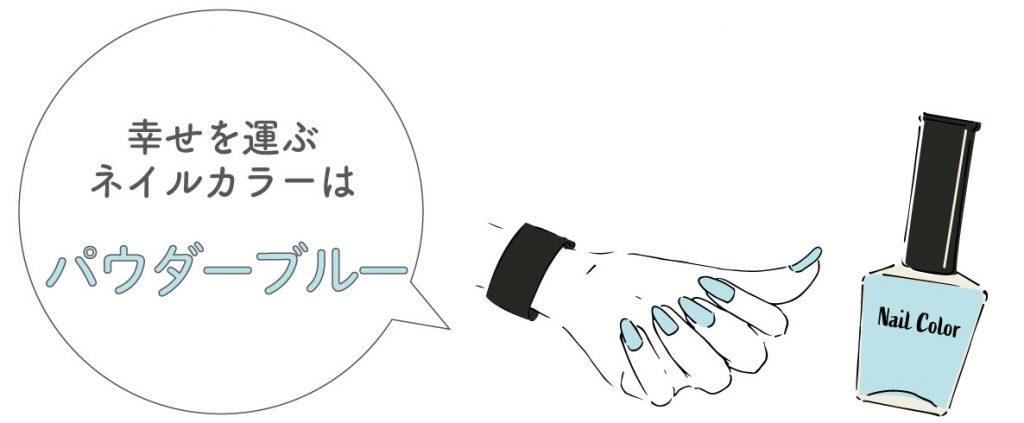 乙女座のラッキーカラー:パウダーブルー