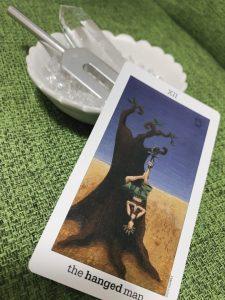 タロットカード:吊るされた男の逆位置