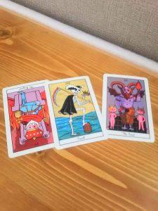 タロットカード:死神、悪魔