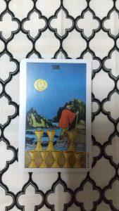タロットカード:カップの8