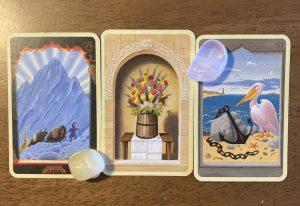ルノルマン カード:山、花束、錨